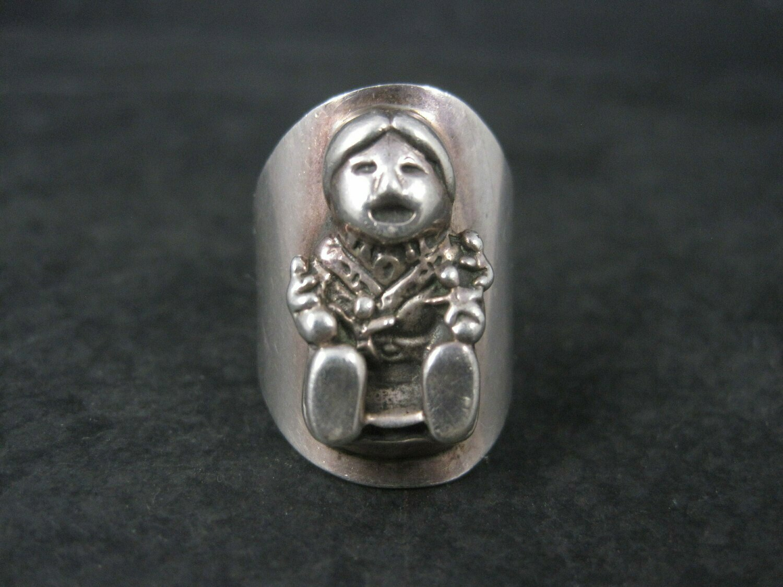 Vintage 1987 Sterling Storyteller Ring Carol Felley Size 6