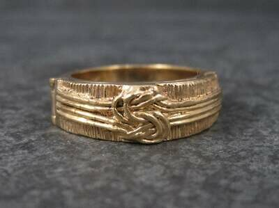 Antique 14K Love Knot Wedding Ring Size 7