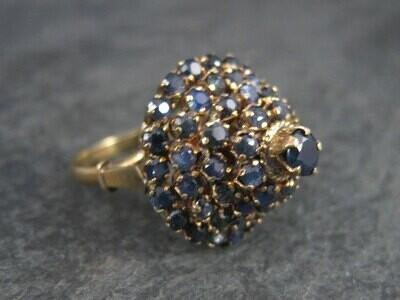 Vintage 14K Sapphire Princess Harem Ring Size 6.25