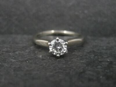18K .33 Carat Diamond Engagement Ring