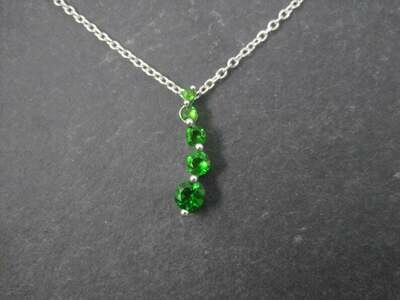 10K Chrome Diopside Journey Pendant Necklace