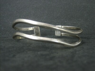 Mexican Sterling Wavy Cuff Bracelet 7 Inches