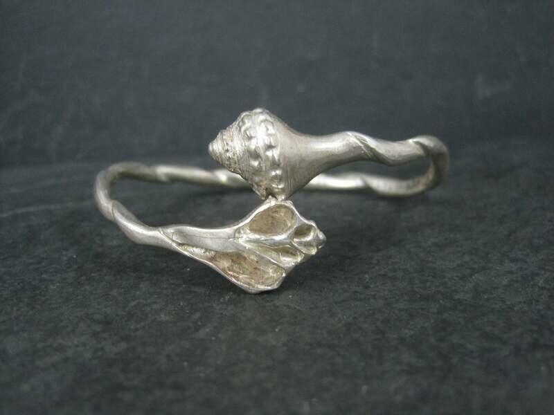 Sakonnet Memories Sterling Silver Seashell Bangle Bracelet Limited Edition 6.5 Inches