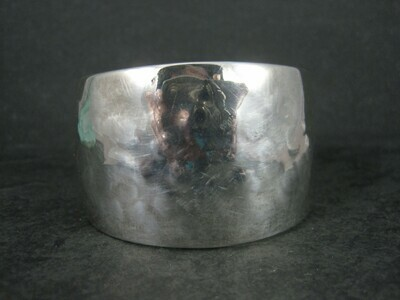 Vintage Hammered Sterling Cuff Bracelet 6 Inches