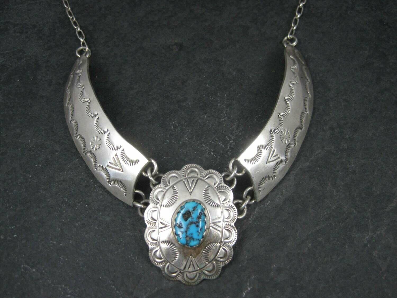 Vintage Southwestern Sterling Turquoise Necklace
