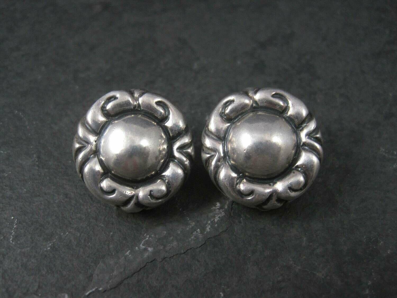 Vintage Designer Sterling Clip On Earrings