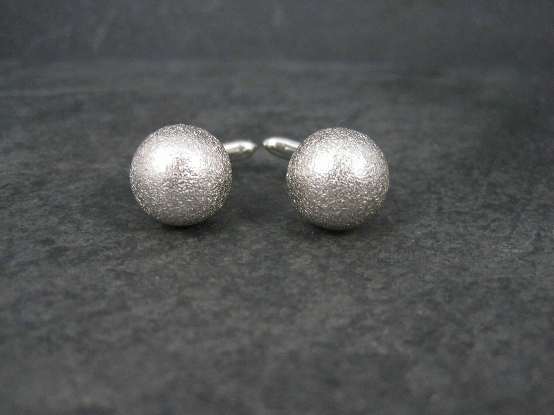 Vintage Sterling Textured Sphere Cufflinks