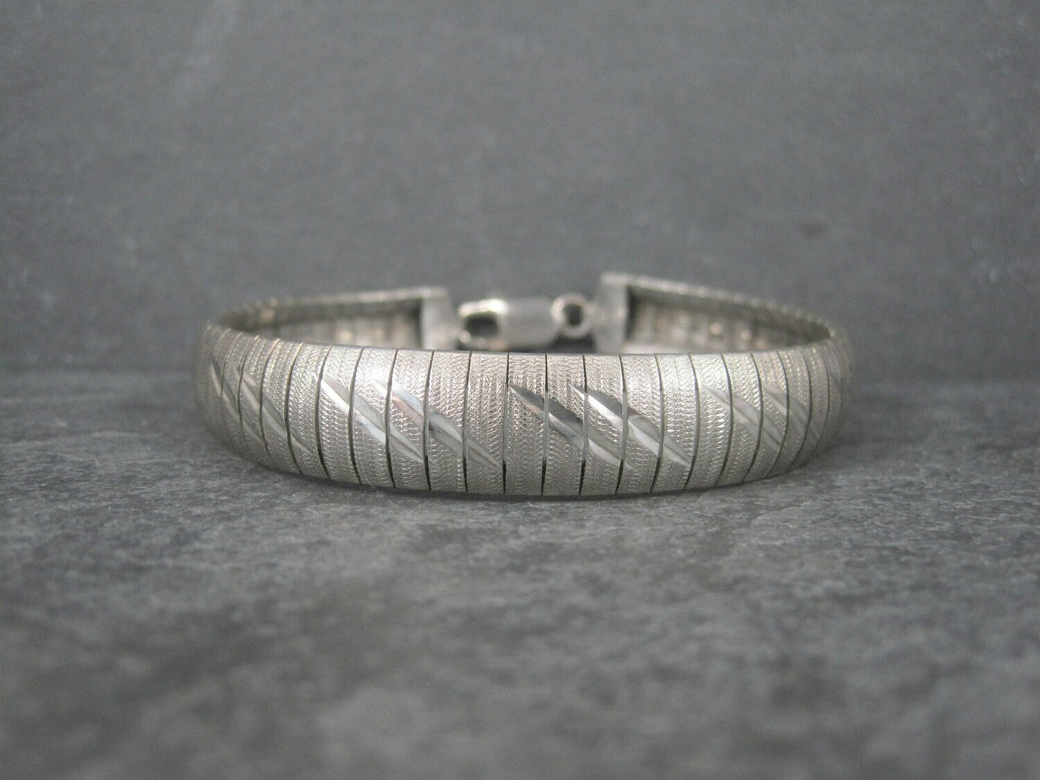 Vintage Italian Sterling 1/2 Inch Bracelet 8 Inches