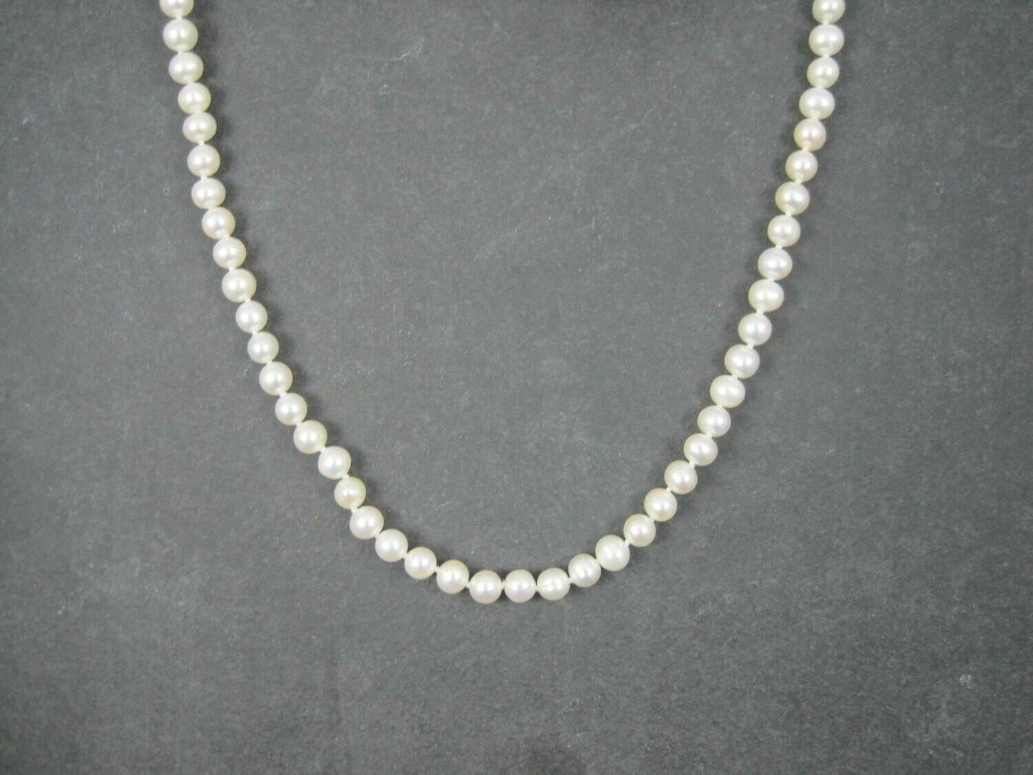 Vintage Freshwater Pearl Necklace Earrings Jewelry Set 18 Inches