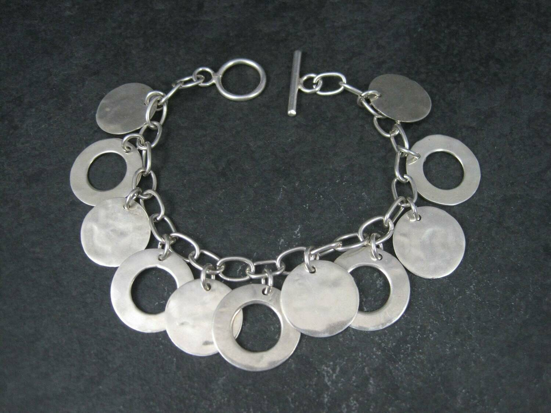 Vintage Sterling Circle Charm Bracelet
