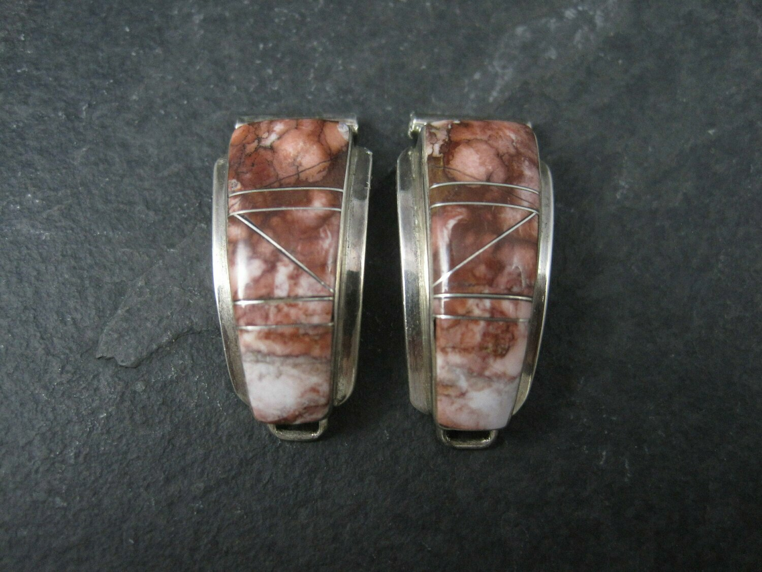 Ladies Vintage Southwestern Sterling Wild Horse Turquoise Watch Tips