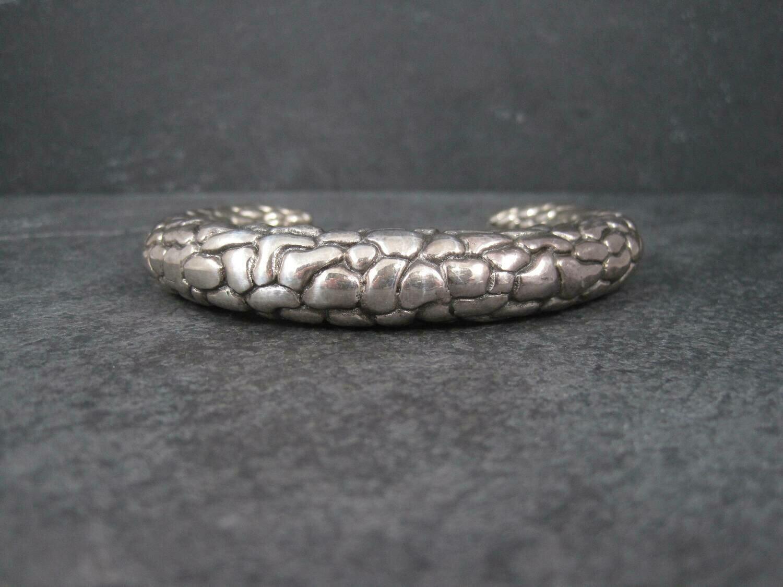 Vintage Sterling Snake Cuff Bracelet 6.25 Inches