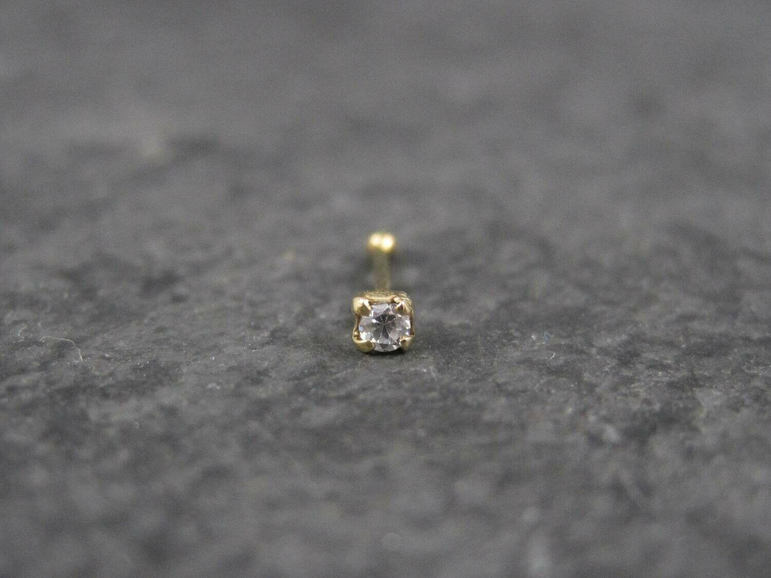 14K Nose Stud 20 Gauge Nose Bone