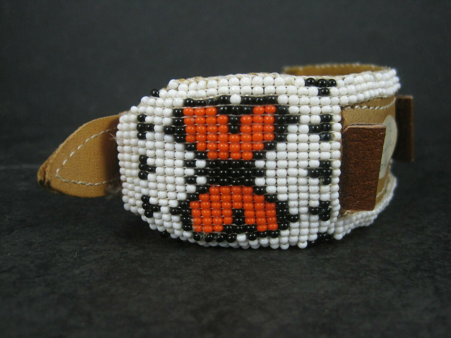 Vintage Butterfly Beaded Watch Band Paiute Jenny Dick