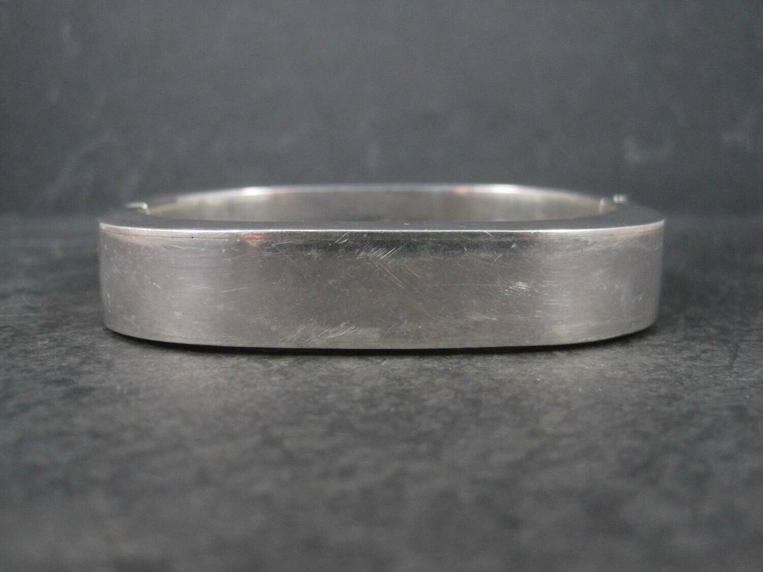 Heavy Vintage Mexican Sterling Bangle Bracelet 7 Inches