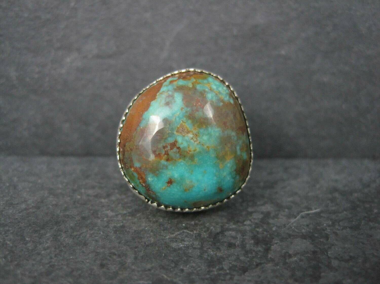Chunky Vintage Southwestern Chrysocolla Ring Size 5.5
