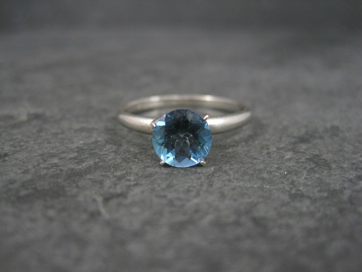 10K Sterling Blue Mystic Topaz Engagement Ring Size 9
