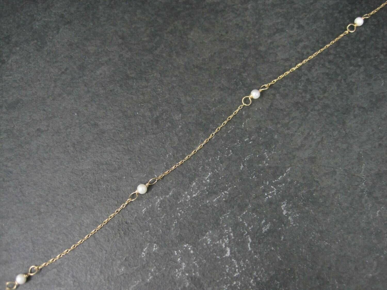 Vintage 14k Pearl Bracelet 9 Inches