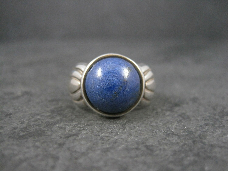Vintage Sterling Lapis Lazuli Ring Size 9