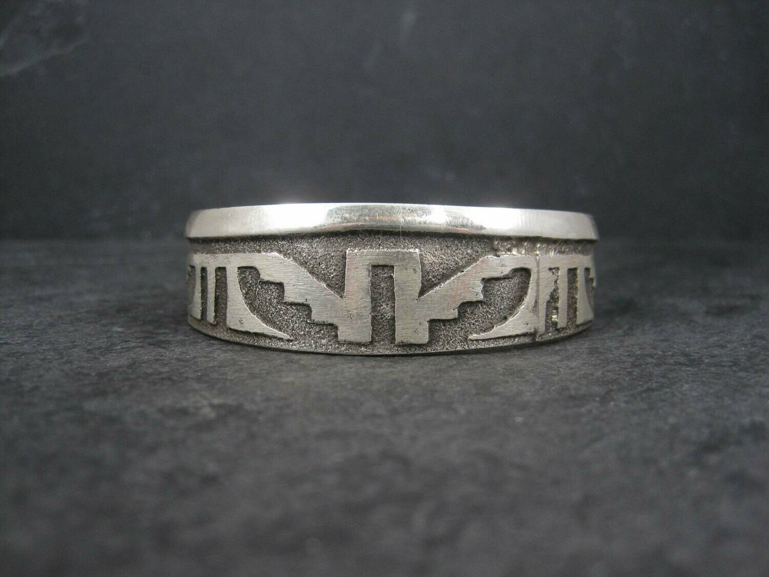 Navajo Sterling Tufa Cuff Bracelet 6.25 Inches Anthony Bowman