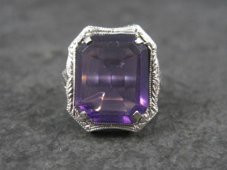 Antique 14K Art Deco Filigree Ring Size 2.5 for Repair