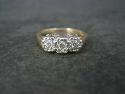 14K 1/2 Carat Endless Diamond Cluster Ring Size 8.25