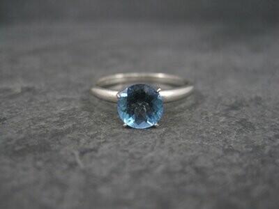 10K Sterling Blue Mystic Topaz Engagement Ring Size 9