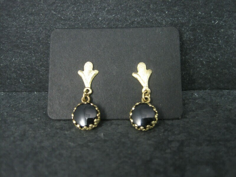 Dainty 14K Onyx Earrings