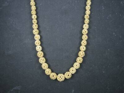Antique Chinese Export Bone Bead Necklace 30 Inches