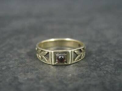 Antique Garnet Baby Ring 10K Size 0