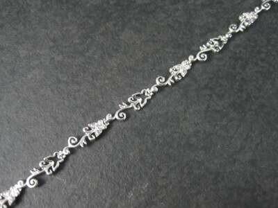 Dainty 90s Sterling Diamond Illusion Butterfly Bracelet