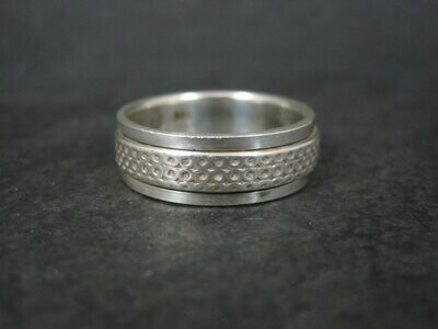 Vintage Sterling Worry Spinner Band Ring Size 13