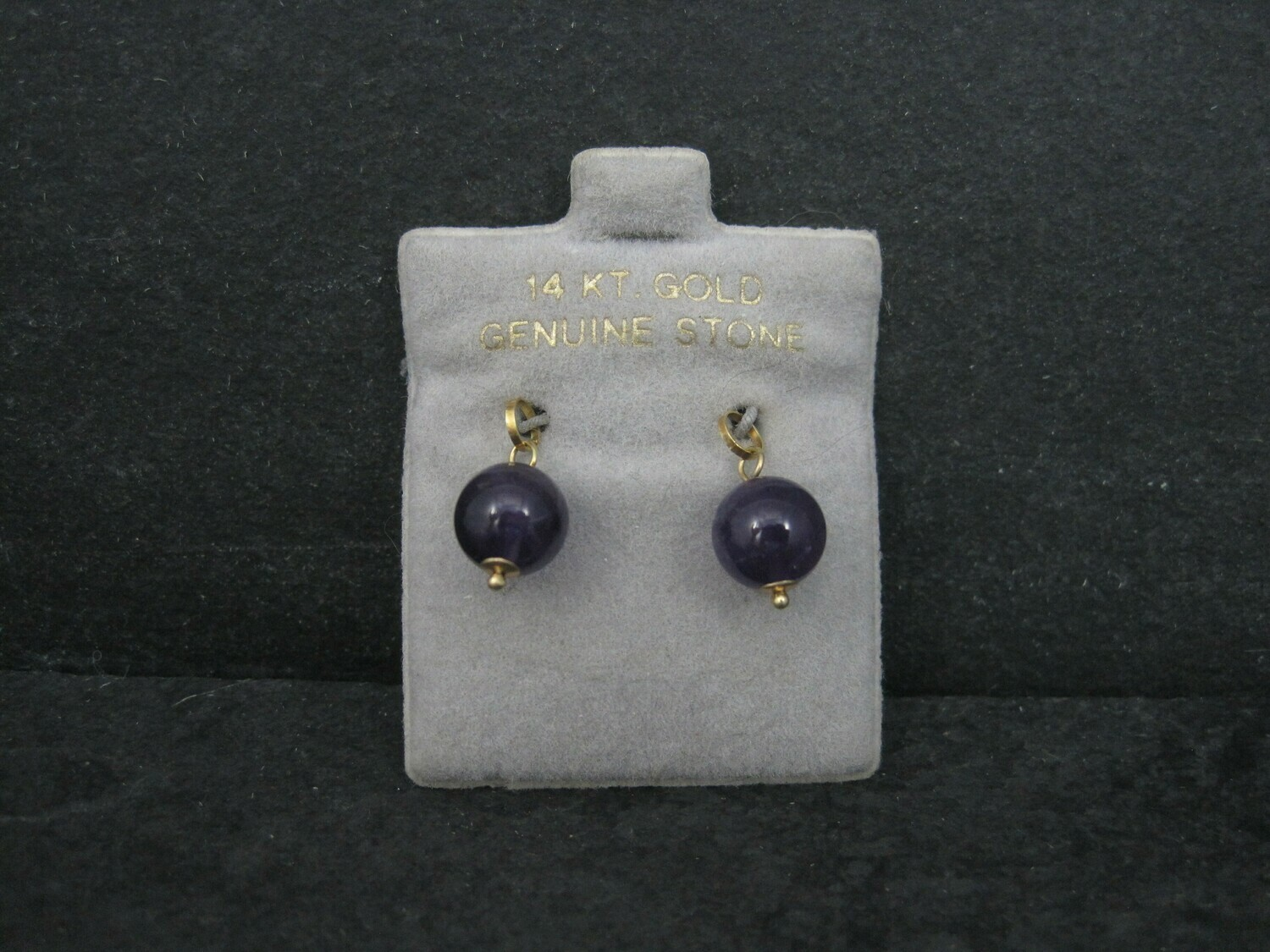 14K Amethyst Hoop Earring Enhancer Charms