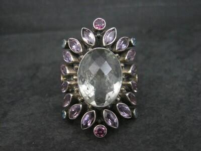 Large Nicky Butler Sterling Ring Amethyst Prasiolite Size 8 Limited Edition