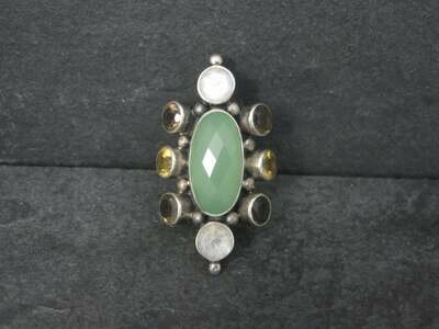 Huge Nicky Butler Chalcedony Moonstone Ring Sz 8 Limited Edition