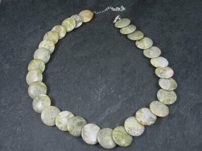 Irish Connemara Marble Bead Necklace 18 Inches