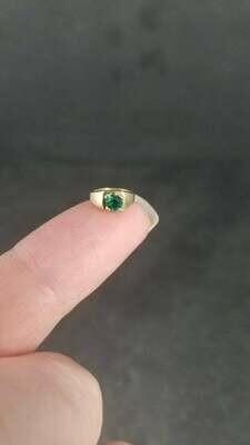 Estate 14K Emerald Birthstone Ring Charm