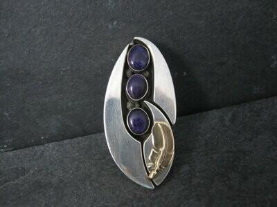 Vintage OOAK Navajo Sugilite Feather Ring William Vandever