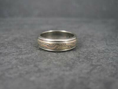 Vintage 14K Mokume Gane Wedding Band Ring Size 6.5 George Sawyer