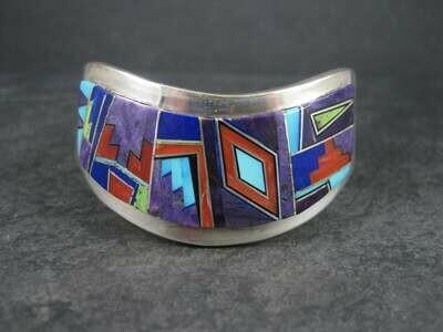 Navajo Inlay Cuff Bracelet Edward Becenti