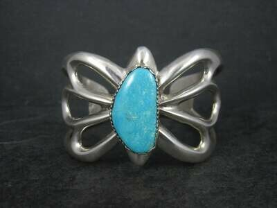 Heavy Vintage Turquoise Tufa Cuff Bracelet 6.25 Inches