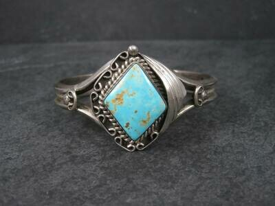Vintage RoystonTurquoise Cuff Bracelet by Navajo Tom Billy