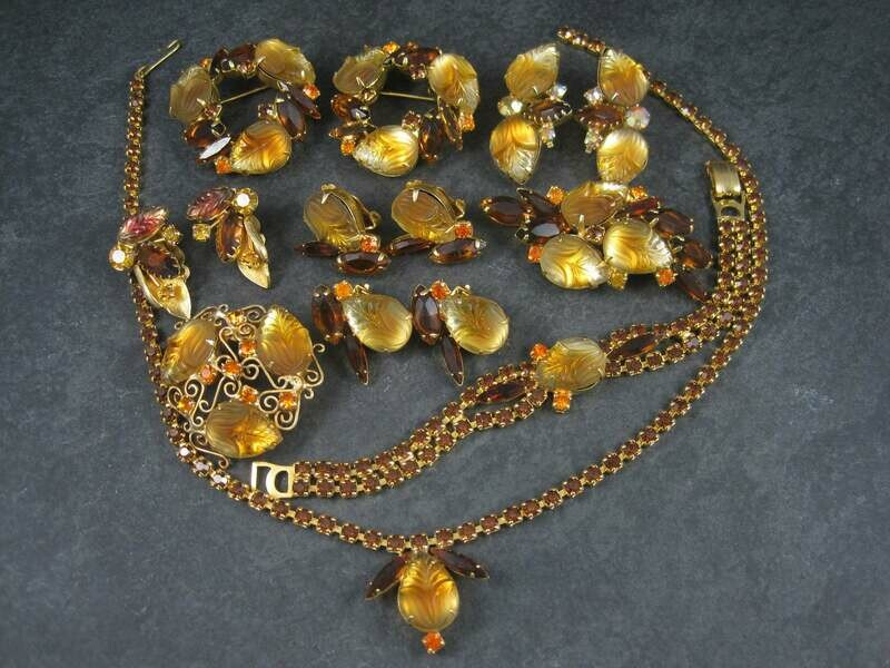 Vintage Juliana Delizza and Elster Rhinestone Jewelry Lot