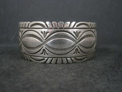 Heavy Vintage Native American Cuff Bracelet 6.75 Inches