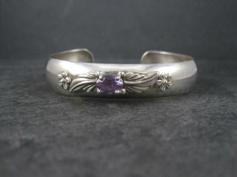 Vintage Carol Felley Amethyst Cuff Bracelet 6.25 Inches