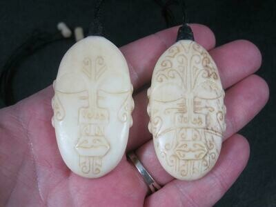 Maori Mother and Father of Creation Pendants Necklaces