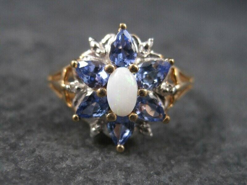 Vintage 10K Amethyst Opal Ring Size 7
