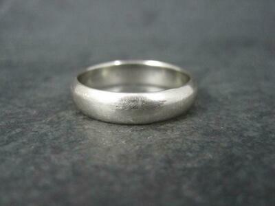 Estate 14K White Gold Band Ring Size 11.5 Kaynar