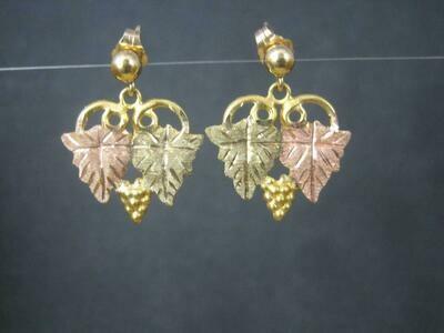 Vintage 10K Black Hills Gold Earrings