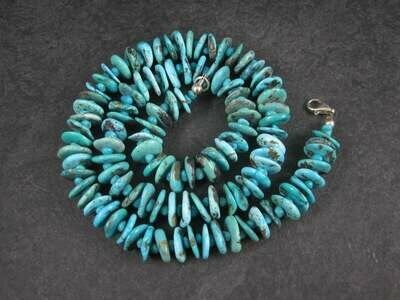 Vintage Turquoise Bead Necklace 20 Inches